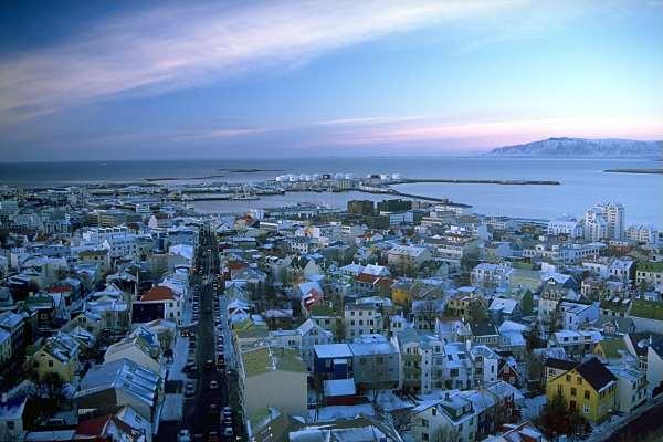 Vista de Reikiavik, turismo